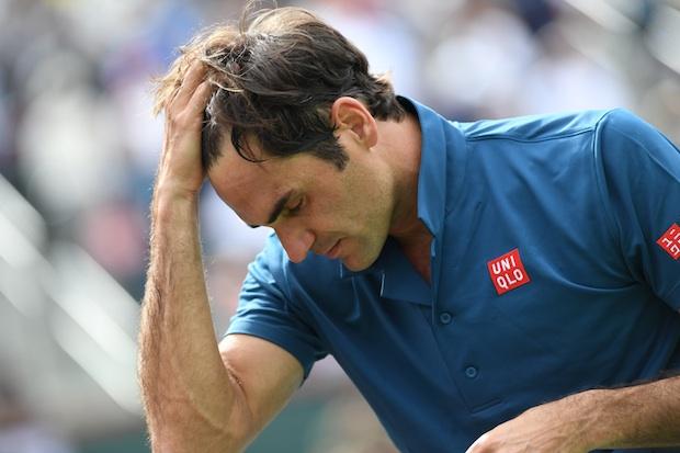 Federer a eu chaud contre Monfils