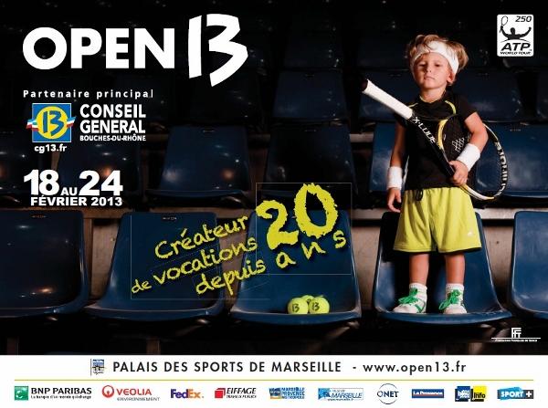 ATP MARSEILLE 2013 : infos, photos et vidéos Afficheopen132013