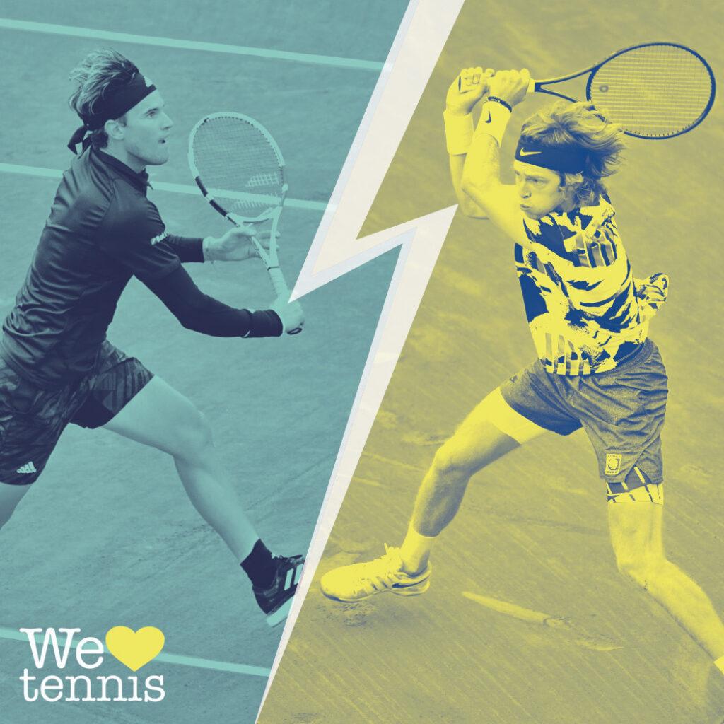 Andrey Rublev sauve l'honneur face à Dominic Thiem — Finales de l'ATP